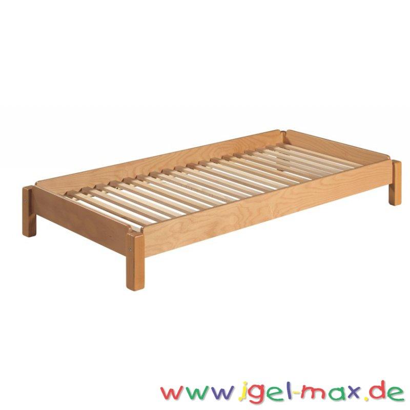 kindergarten stapelbett mit lattenrost 120 cm. Black Bedroom Furniture Sets. Home Design Ideas