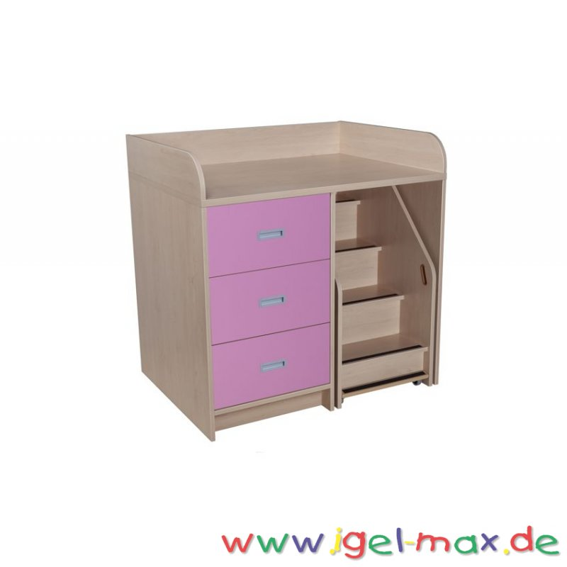 wickelkommoden mit treppe wickeltisch f r kindergarten. Black Bedroom Furniture Sets. Home Design Ideas