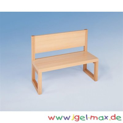 sitzbank mit r ckenlehne 80 cm. Black Bedroom Furniture Sets. Home Design Ideas