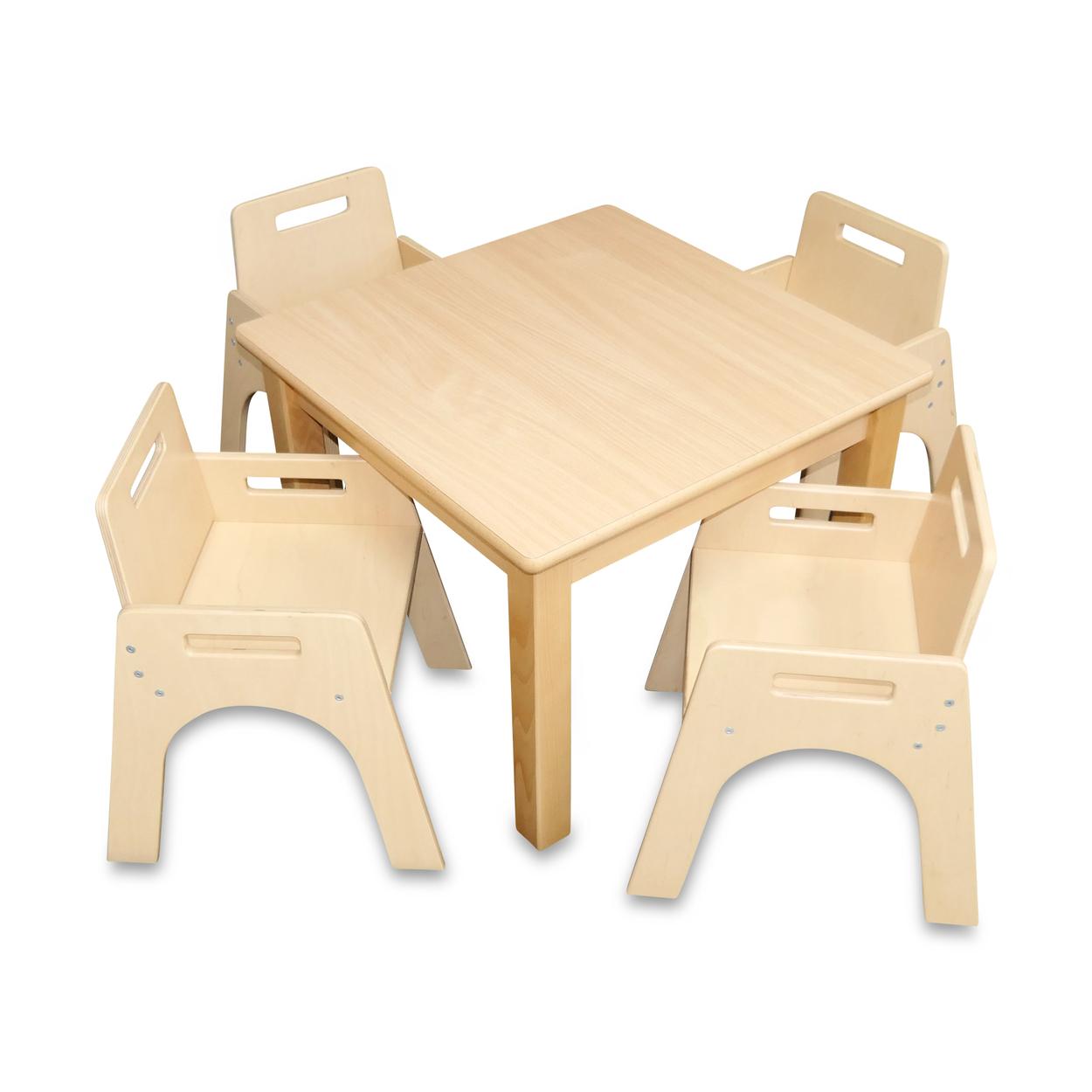 Kleinkindstuhl mit Armlehnen + Tisch 60 cm