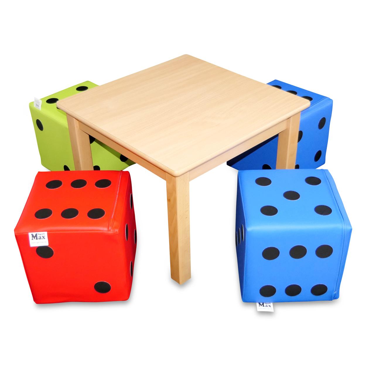 Sitzwürfel Play + Spieltisch 60 cm 5 er Set