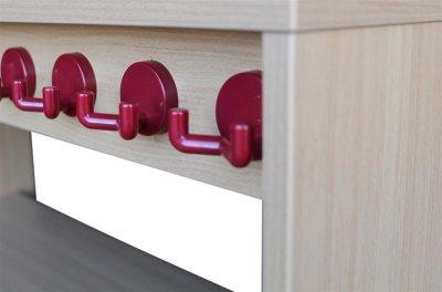 t pfchenbank f r 4 t pfchen. Black Bedroom Furniture Sets. Home Design Ideas